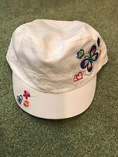 childrens place white summer girls cap/hat: 6/12m