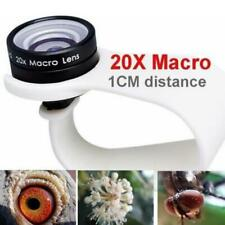 Mobile Phone Macro Lenses 20x Wide Angle Fits For iPhone Huawei Xiaomi Samsung