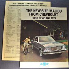 1978 Chevrolet Malibu & Classic Brochure Landau, Wagon Excellent Original 78