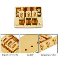 High Quality Golden 3 Strings Electric Guitar Bridge Cigar Box Guitar Bridge Kit