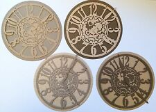 Large Steampunk Clock Die Cuts - Recycled Neutrals (pack Of 4)