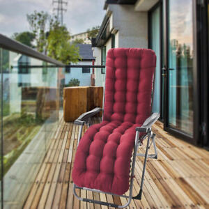 Soft Polyester Garden Rocking Deck Chair Pad Office Chair Seat Cushions