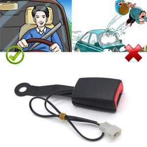Camlock Car Front Seat Belt Buckle Socket Plug Connector w/ Warning Cable Useful