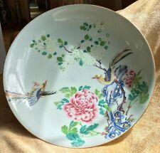 Chinese Antique Porcelain Large 36 cm Charger Dish 18th C Yongzheng Qianlong Fam