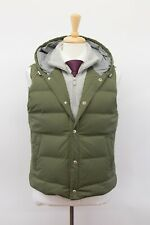 NWT$3995 Brunello Cucinelli Mens Hooded Goose Down Puffer Vest W/Cashmere M A201