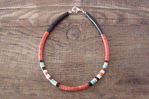 Santo Domingo Hand Strung Spiny Oyster Beaded Bracelet by Dorene Calabaza