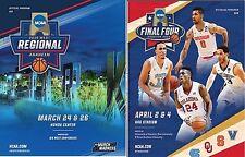 2016 MENS BASKETBALL WEST REGIONAL + FINAL FOUR NCAA OFFICIAL PROGRAM SET OF 2