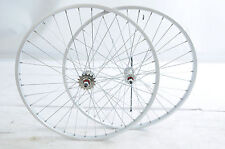 "24 x 1 3/8"" 540 RIM FLIP FLOP JUNIOR RACING RACE BIKE FIXIE WHEELS SEALED HUBS"