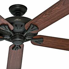 "Hunter Fan 60"" Traditional Ceiling Fan in New Bronze, 5 Blade"