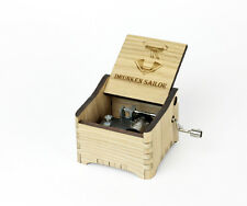 Personalized Hand Crank Wooden Music Box (Drunken Sailor)