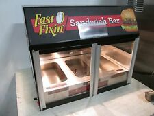 """WISCO"" COMMERCIAL COUNTER-TOP LIGHTED HEATED 3 WELL (NSF) HOT FOOD DISPLAY CASE"