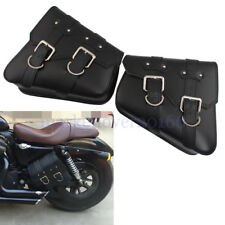 Motorcycle Black Side Saddle Bags For Harley Davidson Sportster XL883 1200