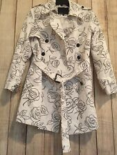 SPOON LADIES WHITE/OLIVE TRENCH COAT/JACKET SIZE 44/US 14