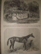 May games at Wymering Hampshire & Horse racing winner Oaks Regalia 1865 prints