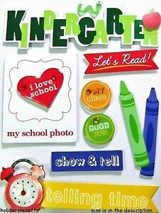 PRESCHOOL KINDERGARTEN Soft Spoken School 3-D Stickers Crayons Banners Badges