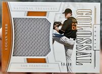 2020 National Treasures LOGAN WEBB Rookie Colossal Junbo Jersey Relic /99 Giants
