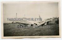 Original WW2 photo crash landed mosquito  RAF Tengah Singapore 1946