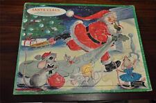 VINTAGE 1962 WHITMAN #4424 TRAY PUZZLE SANTA CLAUS