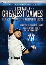 BASEBALL'S GREATEST GAMES NEW YORK YANKEES POSTSEASON HEROICS New 4 DVD 4 Games