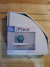 InPlace Shelving 0191806 12-Inch Wide Floating Corner Wall Shelf, White