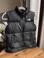 Boys The North Face 550 Down Nuptse Gilet Vest Bodywarmer M (Age 10-12) Black