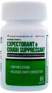 Mucus DM Expectorant Cough Suppressant Generic Mucinex DM 60 Caplets per Bottle
