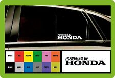 Powered by HONDA  2 x CAR DECAL STICKERS  - 145mm long - Colour Choice!