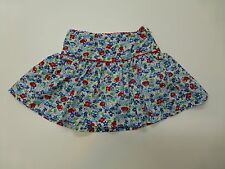 Tommy Hilfiger Girls Size 4T Red & Blue Floral Woven Skirt Great Condition