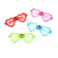 LED Heart Glasses Light Up Shades Flashing Rave Wedding Party Supplies SA