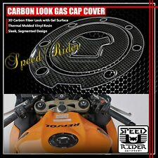 HONDA CBR-1000RR/600RR CARBON FIBER LOOK GAS CAP FUEL LID COVER PROTECTION PAD