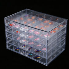 120 Grid Empty Storage Box Case For Nail Art Tips Rhinestone Cosmetic Bead Gems#