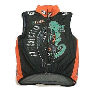 Louis Garneau SoBe Full Zip Windbreaker Cycling Vest Mesh Back Size XL USA Made