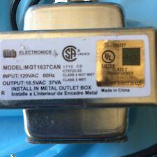 Hardwired Transformer 120V to 16.5VAC 37VA TH3716