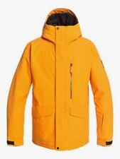 Quiksilver Mens Mission Solid SNOW SKI SNOWBOARD JACKET Flame Orange UK SELLER