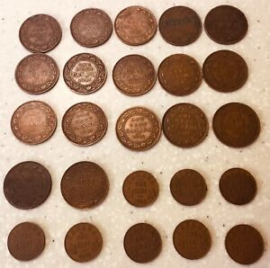 1902-1935 Canada 1 cent Coins  x 25