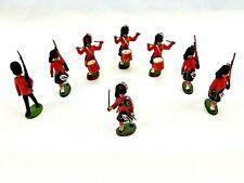 Britains Ltd. 8 Soldiers Grenadiers Drummer Marching Royal Guard