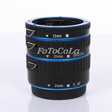 AF Auto Focus Macro Extension Tube Set for Kenko Canon EOS EF-S DSLR Camera Blue