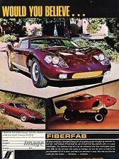 1971 Fiberfab Avenger GT-12 Kit  Original Advertisement Print Art Car Ad J809