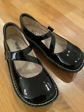 Alegria DAY 101 Black Patent Leather Mary Jane Shoes Size 40 Women's Perfect