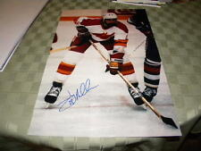 "Jay Miller Calgary Flames Signed 12"" x 18"" Hockey Photo W/COA"