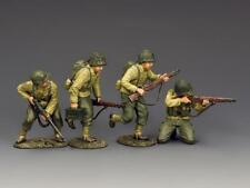 """King and Country DD321 """"Hitting the Beach Set 1"""" 1:30 WWII US Metal Toy Soldiers"""