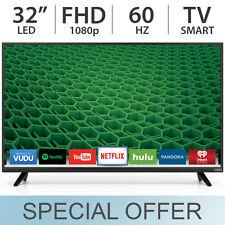 "VIZIO 32"" Inch 1080p FULL HD 60Hz LED FHD Smart TV w/ 2 HDMI D32X-D1- NEW"