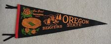 1965 OREGON STATE BEAVERS Soft Felt ROSE BOWL PENNANT UNSOLD CONCESSIONS STOCK