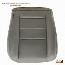 2003 Ford F250 Lariat 4X4 7.3L Diesel-Driver PERFORATED LEATHER Seat Cover GRAY