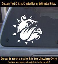 Bulldog 6 inch vinyl decal 1b pet dog lovers animals sticker 4 ur car truck home