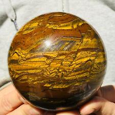 1156g Large Natural Gold Tiger's Eye Quartz Crystal Sphere Ball Healing Mineral
