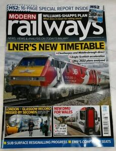 modern railways, august 2021, liner's new timetable, train magazine