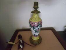 Pied de lampe années 1930  céramique , pied bronze