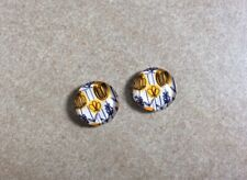 12mm, Cabochons, 2pcs- Glass Domed, Jewellery Making, Pretty Yellow Flowers
