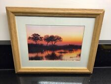 "Wood Effect Photo/Picture Frame 9"" x 7"" (with mount 7"" x 5"") Ex Con"